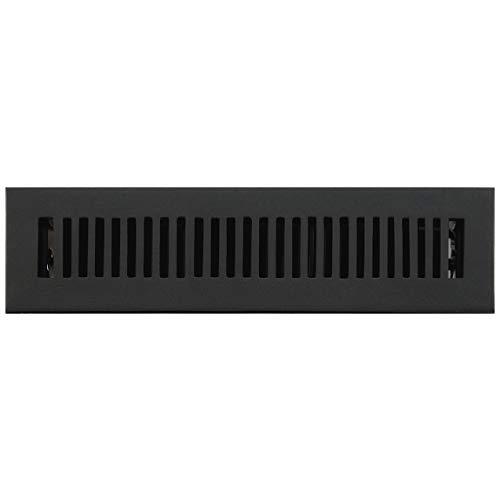 (Signature Hardware 294698 Modern Cast Iron Floor Register - 2-1/4