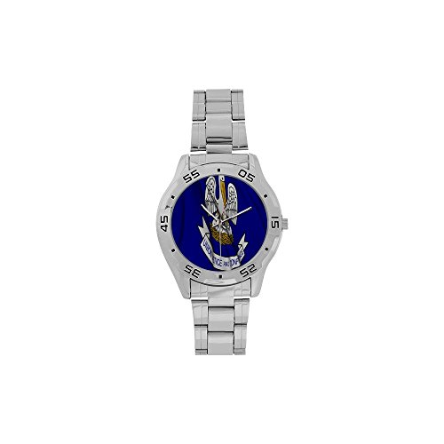 Valentine's Day Gift Louisiana Flag US State Men's Stainless Steel Analog Watch