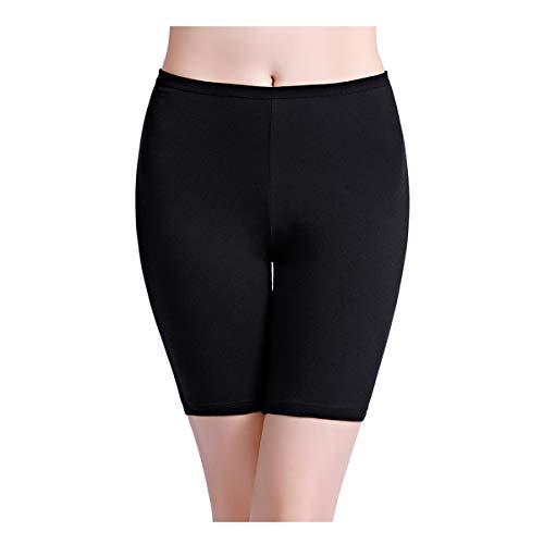 wirarpa Womens 1 Pack Cotton Underwear Boy Shorts Long Leg Anti Chafing Under Dresses Biker Short Leggings Black Size ()
