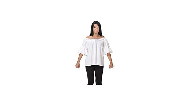 DISBACANAL Camisa de tabernera Medieval - Blanco, Adulto: Amazon.es: Juguetes y juegos