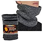 2 Pack Arctic Extreme Thick Heat Trapping Thermal Insulated Fleece Lined Neck Warmers Gaiters Unisex Cold Weather Gear Winter Face Mask, 2 Marled Gray, one size fits most