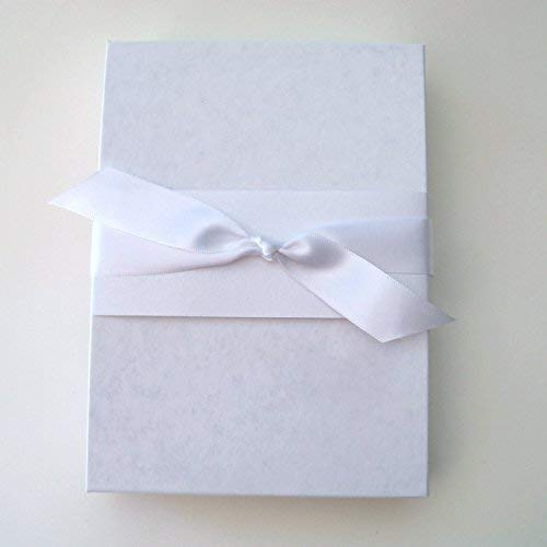 gift boxed Something blue handkerchief for the bride