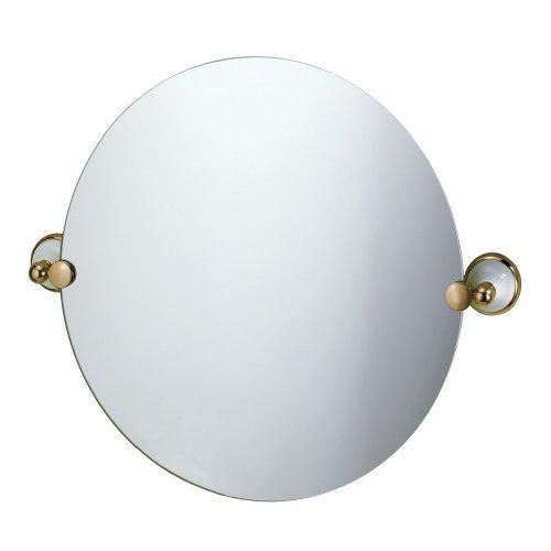 Gatco 5766 Franciscan Round Wall Mirror, Brass