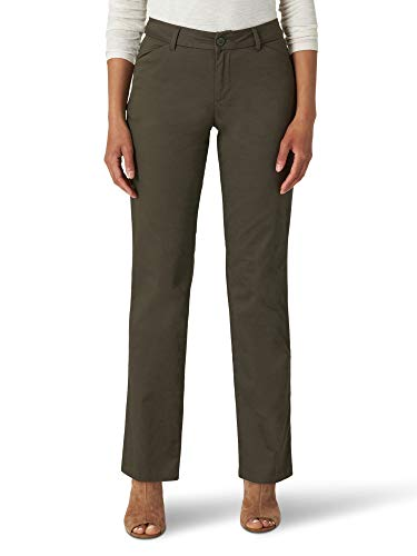 Lee Women's Wrinkle Free Relaxed Fit Straight Leg Pant