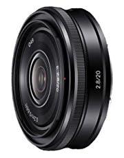 Sony SEL-20F28 groothoeklens (vaste brandpuntsafstand, 20 mm, F2.8, APS-C, geschikt voor A6000, A5100, A5000 en Nex series, E-Mount) zwart