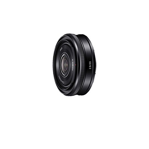 Sony SEL20F28, Weitwinkel-Objektiv mit Festbrennweite (20 mm, F2,8, E-Mount APS-C, geeignet für A5000/ A5100/ A6000 Serien& Nex) schwarz
