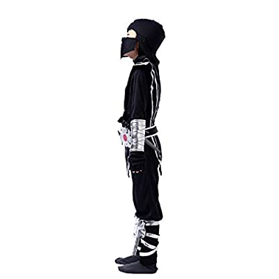 Silver Ninja Deluxe Costume Set with Ninja Foam Accessories Toys for Kids Kung Fu Outfit Halloween Ideas: Clothing