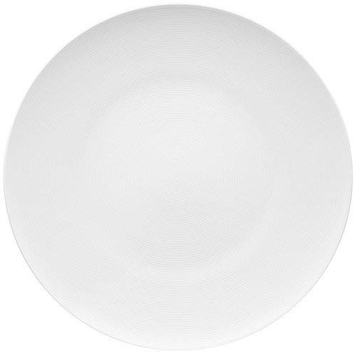 Rosenthal Thomas Loft White Service Plate – Modern Serving Platter Made of Porcelain – Unique Design with Concentric Lines – 13 Inch