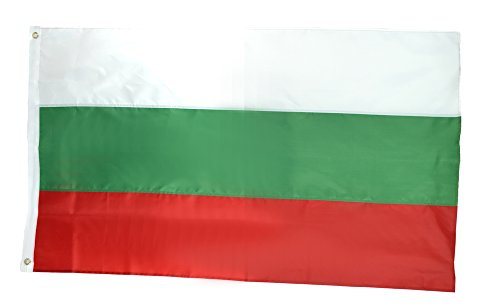 Shop72 - Bulgaria Flag Sewn Stripes Sturdy 201D Oxford Nylon Country Flags - World Flag - Canvas Header Brass Grommets Double Stitched From Wind (Bulgaria Flag)