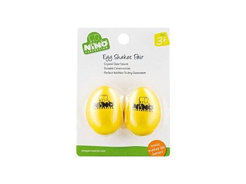 Nino Percussion NINO540Y-2 Plastic Egg Shaker Pair - Yellow