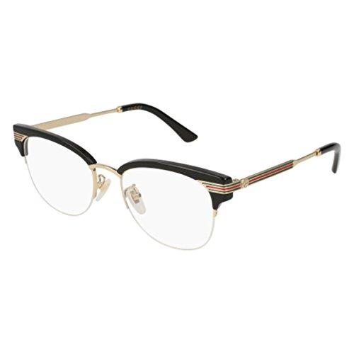 b3b10aa8418 Gucci GG 0201O 001 Black Plastic Eyeglasses 50mm