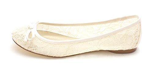 Adrianna Papell Womens sage Fabric Closed Toe Slide Flats, Ivory, Size 6.5