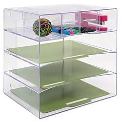 Innovative Storage Designs Desktop Organizer, 6 Compartments, Clear by Innovative Storage Designs