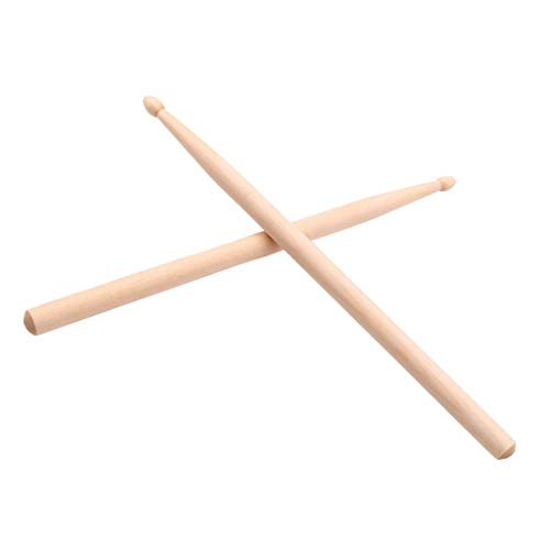 Flameer Portable 5A Classic Drumsticks Maple Wood Drum Sticks for Children Kids Musical Gift