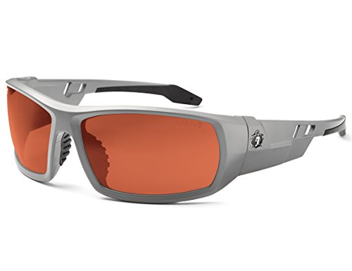 Skullerz Odin Polarized Safety Sunglasses - Matte Gray Frame, Copper (Frame Gray Polarized Lens)