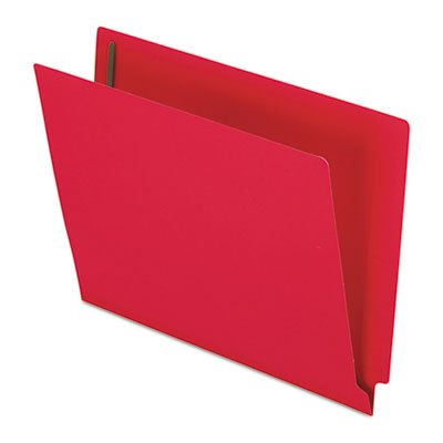 (Pendaflexamp;reg; Two-Ply Expansion Folders w/2 Fasteners, Straight Cut, End Tab, Ltr, Red, 50/Bx)