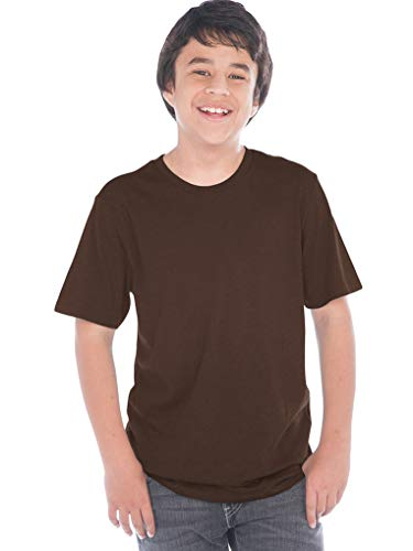 Kavio! Youth Crew Neck Short Sleeve Tee Jersey (Same YJC0263) Coffee XL