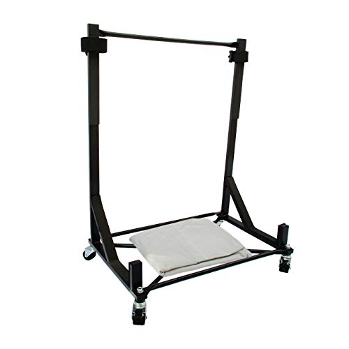Hardtop Stand/Storage Cart (Black) for the FORD THUNDERBIRD, with Strap & Free Extra-large Generic Hard Top Dust Cover