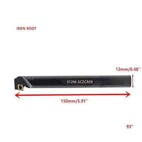 Noir 1P S12M-SCZCR09//S12M-SCZCL09 CNC Outil de coupe de tour de tournant interne support pour outil de tournage CCMT09T3 inserts en carbure 1 S12M-SCZCL09
