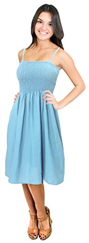 Buy light blue and brown bridesmaid dresses - 2