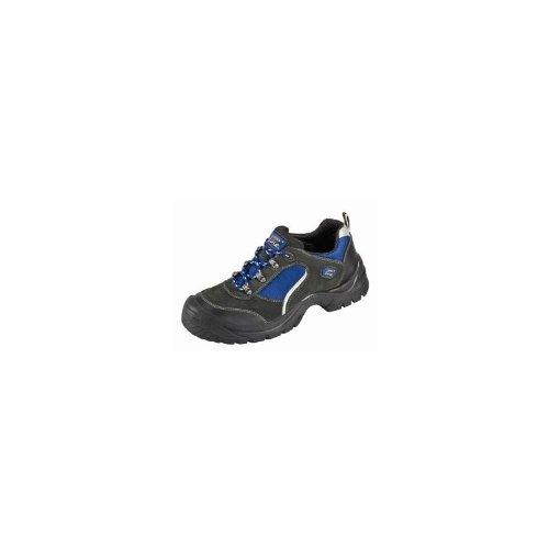 Chaussures Protectrices S1 Göhren Imitation des Chaussures Sportives, Cuir de Velours, Bouchon dacier Semelle PUR Antidérapante - noir-bleu, 40