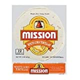 Mission Foods White Corn Tortilla, 6 inch - 60 per pack -- 12 packs per case.