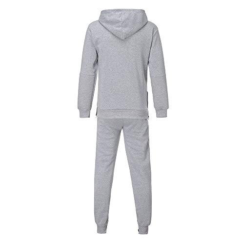 Survêtement Bazhahei À Pantalon Ensemble Suit Sport Sweatshirt Jogging Homme Joggers Hoodie De Gris Capuche Gym U8OXRwRqT
