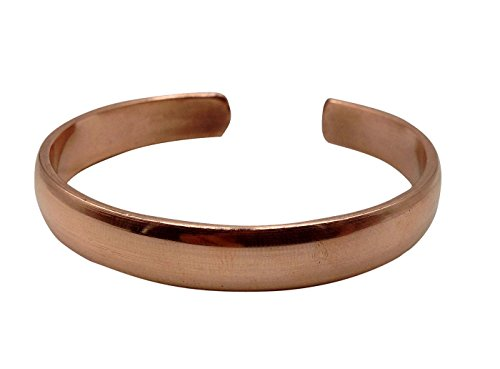 Healing Lama Hand Forged 100% Copper Bracelet. Unisex, Made with Solid and High Gauge Pure Copper. Helps Reducing The Joint Pain and Stiffness, Joint Related Inflammation and Skin Allergies. -