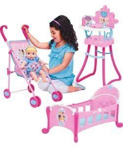 My First Disney Baby Princess Cinderella Doll & Stroller Set ...