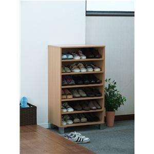 オープンシューズボックス(靴箱/下駄箱) 【幅60cm】 ナチュラル 【組立】 B01JAQTCTE