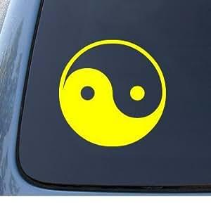 adhesivo YIN & YANG - Asian - Car, Truck, Notebook, Vinyl Decal Sticker #1040   Vinyl Color: Yellow