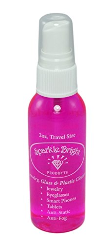 Sparkle Bright All-Natural Jewelry Cleaner Solution - 2oz. Travel Spray | Jewelry Cleaning for Diamonds, Fine, Costume, Designer, Fashion (Dry Cleaner Costume)