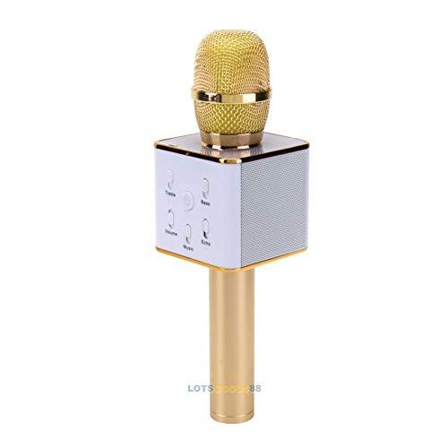 FidgetGear Q7-2 Wireless Bluetooth Microphone KTV Karaoke Stereo USB Player Audio Speaker from FidgetGear
