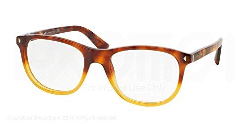Prada Journal Eyeglasses PR17RV TKU1O1 Light Havana Grad Opal Yellow 56 19 - Journal Glasses Prada