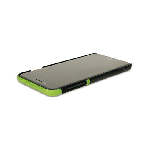 alto Handmade Premium Italian Leather Wallet Case for Apple iPhone 8 Plus / iPhone 7 Plus Metro (Lemon/Raven) by Alto (Image #4)