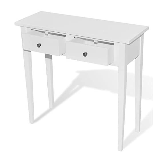 Anself White Mirrored Console Table with Two Drawers -  - living-room-furniture, living-room, console-tables - 31ffEl1n50L. SS570  -