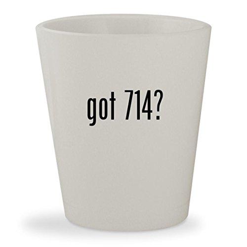 got 714? - White Ceramic 1.5oz Shot Glass