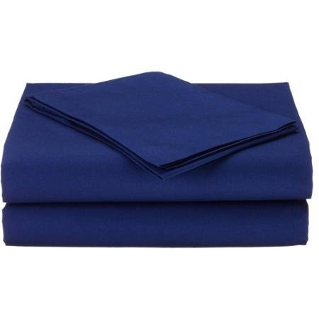 TL Care Cotton Percale 3-Piece Toddler Bedding Sheet Set, Royal by TL Care Inc
