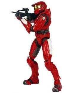 Halo Joyride Series - Halo 2 Action Figure Limited Edition Series 1 Red Spartan Version 1 (Yellow Stripes)