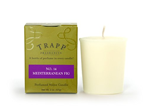 Trapp Signature Home Collection No. 14 Mediterranean Fig Votive Scented Candle, Pack of 4