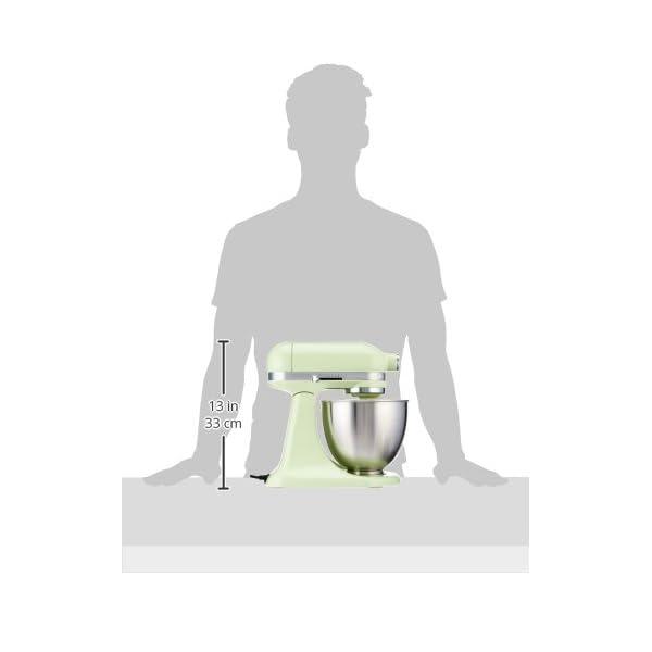 KitchenAid KSM3311XHW Artisan Mini Series Tilt-Head Stand Mixer, 3.5 quart, Honeydew 5