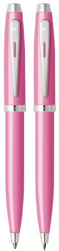 Sheaffer 100 Glossy Pink/ Nickel Ballpoint & Pencil Set by Sheaffer