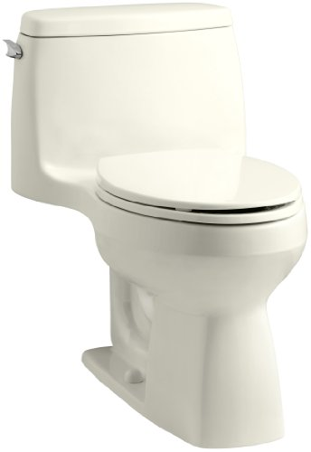 KOHLER 3810-96 Santa Rosa Comfort Height Elongated 1.28 GPF Toilet with AquaPiston Flush Technology and Left-Hand Trip Lever