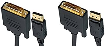 3 Feet DisplayPort to DVI Video Cable 2 Pack DisplayPort Male to DVI Male CNE461606