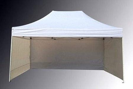 Bastionshop Tenda Commerciale 3x4, 5m Rapida Stand espositivo Tenda Gazebo Stand (Beige)