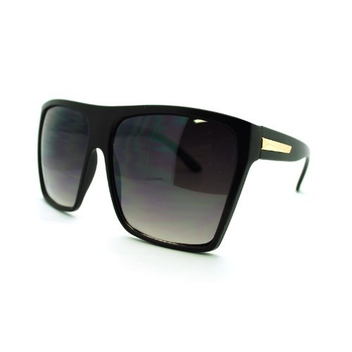 Super Oversized Sunglasses Flat Top Square Frame Shades - Top Flat Shades