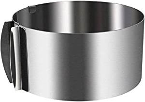Uncle Jack Adjustable Cake Mousse Mould Stainless Steel 6 to12 Inch Cake Mold Ring Baking Décor