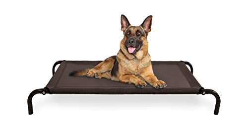 FurHaven Pet Cot Bed | Elevated Cot Pet Bed for Dogs & Cats, Espresso, Large