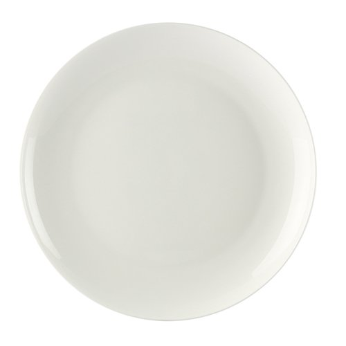 CAC China MAJ-6C Majesty Bone China Coupe Round Plate, 6'' Diameter by 5/8'', Bone White (Box of 36) by CAC China