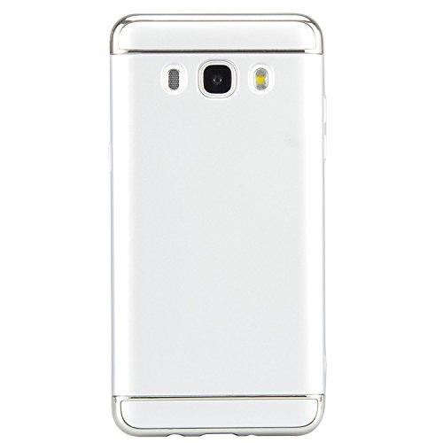 Samsung Galaxy J5 2016 Funda, Vandot Hybrid Diseño 3 en 1 Cáscara Dura de la PC Recubrimiento Metálico Marco Chapado Matte de Lujo Hard Caja de Telefono Duro Protección Cubierta Case Cover para Samsun Hybrid Plata